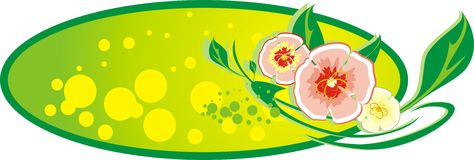 Decorative banner. Bouquet of flowers Royalty Free Stock Image