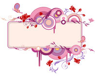 Decorative banner with flowers Royalty Free Stock Photo