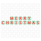 Decorative banner Merry Christmas Stock Image
