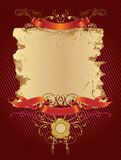 Decorative_banner_in_red_color Images libres de droits
