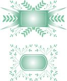 Decorative banners. Two decorative frames with plants Stock Illustration