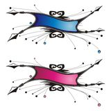 Decorative banners. Two decorative designs of banner Royalty Free Stock Photos