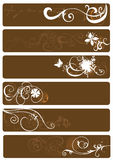 Decorative banners Royalty Free Stock Photos