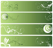 Decorative banners Stock Images