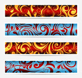 Decorative banners with floral elements Stock Photo