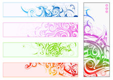 Decorative banners set Royalty Free Stock Images