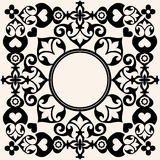 Decorative baroque frame Royalty Free Stock Image