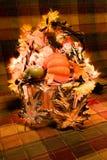 Decorative basket representing halloween Royalty Free Stock Photos