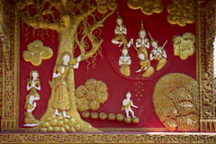 Buddhist Temple Exterior - Lampang - Thailand Royalty Free Stock Photography