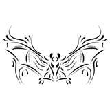 Decorative bat element tattoo Stock Image