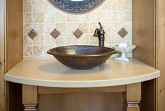 Decorative bathroom sink Royalty Free Stock Images
