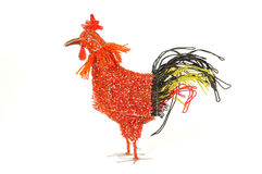 Decorative Beadwork Hen Stock Photography