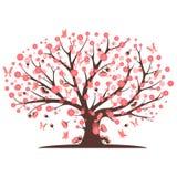 Decorative beautiful cherry blossom tree. Full color Stock Photos