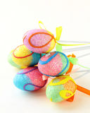 Decorative beautiful colored easter eggs Stock Images