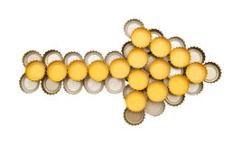 Decorative beer caps Royalty Free Stock Image