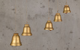 Decorative bell handmade ceramics, sonorous and melodious. Stock Photo