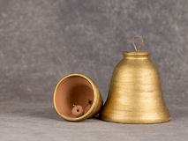 Decorative bell handmade ceramics, sonorous and melodious. Royalty Free Stock Photography