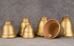 Decorative bell handmade ceramics, sonorous and melodious. Stock Photos