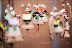Decorative bell made ​​of clay Royalty Free Stock Photography