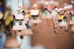 Decorative bell made of clay Royalty Free Stock Image