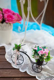 Decorative bicycle Stock Photo