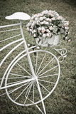 Decorative bicycle flowers Stock Photos