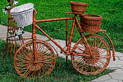 Decorative bike made from twigs Royalty Free Stock Image