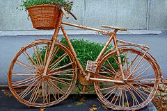 Decorative bike made from twigs 1 Stock Image