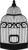 Decorative bird cage. Stock Photo