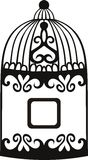 Decorative bird cage. Royalty Free Stock Photos