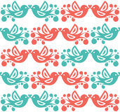 Decorative bird pattern Stock Photography