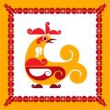 Decorative bird. Vector decorative bird in folk style Royalty Free Stock Photography