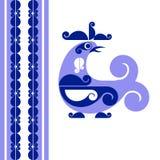 Decorative bird. Vector decorative bird in folk style Stock Images