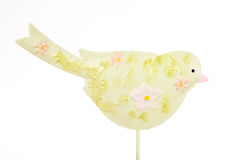Decorative bird. On white background with clipping path Stock Photography