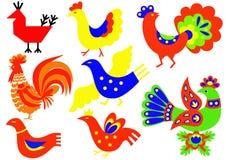 Decorative birds Royalty Free Stock Image