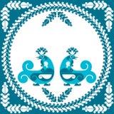 Decorative birds. Vector decorative bird in folk style Stock Image