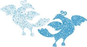 Decorative  birds Royalty Free Stock Photo