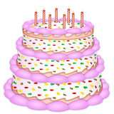 Decorative birthday cake Royalty Free Stock Photo
