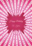 Decorative birthday label Stock Images