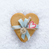 Decorative biscuit heart Royalty Free Stock Photos