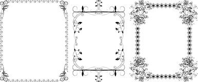 Decorative a black borders Royalty Free Stock Photos
