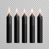 Decorative black brown aroma candle vector  set Stock Photography
