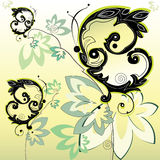 Decorative black butterflies Stock Photos