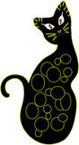 Decorative black cat Stock Image