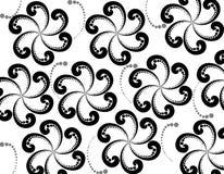 Decorative black  floral design Royalty Free Stock Image