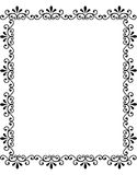 Decorative Black Floral Frame Stock Photography