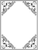 Decorative black floral frame Royalty Free Stock Image