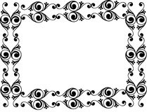 Decorative black floral frame Stock Image