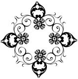 Decorative black flower border Stock Photos
