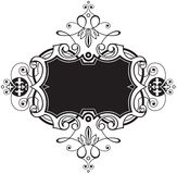 Decorative black frame royalty free illustration